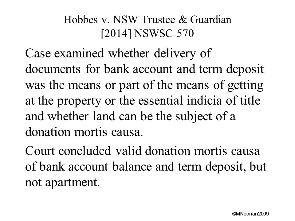 Hobbes v. NSW Trustee & Guardian [2014] NSWSC 570